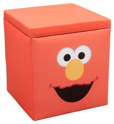 Delta children's products 2011 elmo ottoman storage