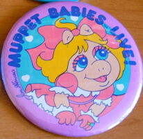 Muppet babies live piggy button