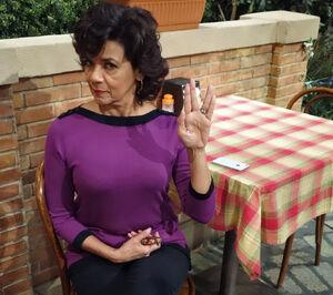 Sonia Manzano Vulcan salute