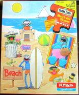 Playskool 1983 beach puzzle