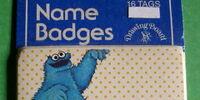 Sesame Street name badges