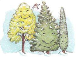 Forever green trees
