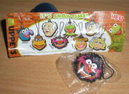 German 2013 chocolate eggs muppet mascot pvc set animal