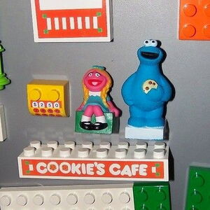 Tyco 1991 super blocks cookie's cafe building set 2