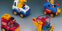 Sesame Street pull back vehicles