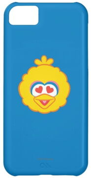 Zazzle big bird smiling face with heart shaped eyes