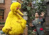 Lin-Manuel Miranda and Big Bird