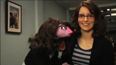 Tina Fey and her Muppet