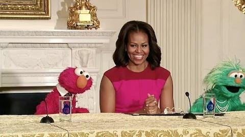 The First Lady, Elmo, and Rosita Partner to Encourage Healthy Food Choices for Kids