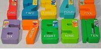 Sesame Street plastic numbers