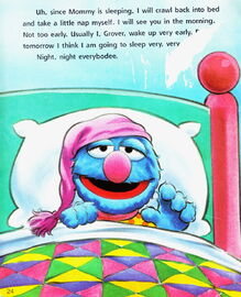 Grover stays up very very late eyelids