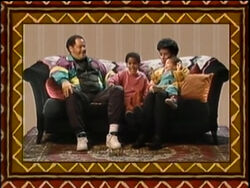 Boy's family portrait