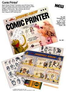 Colorforms 1981 muppet comic printer
