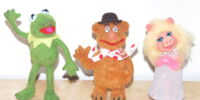 Muppet flocked figures