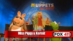Fox piggy and kermit