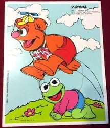 Playskool 1983 puzzle fozzie kermit