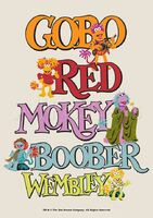 Poster Fraggle Rock-Gobo, Mokey, Wembley, Boober And Red