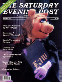Saturday Evening Post July August 1981 cover