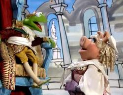 King kermit meets miss piggy