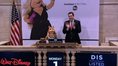 Raw Miss Piggy Rings NYSE Opening Bell