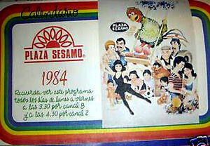 MEXICO TV GUIDE 1984 PLAZA SESAMO AD