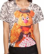 Forever 21 crop fozzie bear top 1