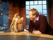 Steve Anthony and Miss Piggy