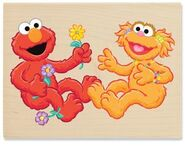 Stampabilities elmo gives a flower