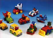 Playskool 1995 catalog die-cast vehicle cars set 2
