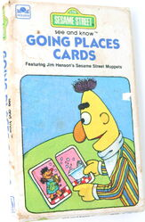 1982 golden books sesame street going places cards 1