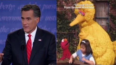 Mitt Romney plucks Big Bird