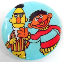 Sesame button bert ernie wave