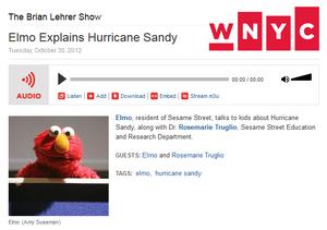 WNYC Elmo Oct 30 2012