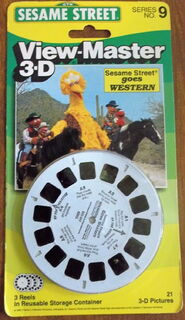 View-master 1988 sesame street goes western
