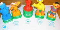 Sesame Street figurine stampers