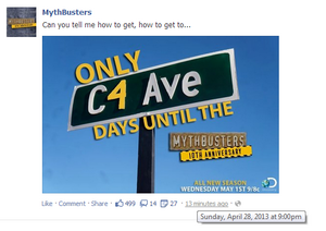 Mythbusters facebook 20130428