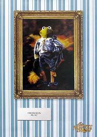 Poster-Frosch-in-blau