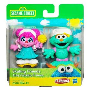 HasbroPlayskool-SesameStreet-2Pack-SkatingFriends-AbbyCadabby&Rosita
