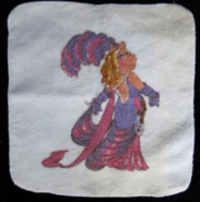 Martex 1980 miss piggy pig follies bathroom towel set 2
