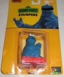 Stampos 1987 rubber stamp cookie monster 1