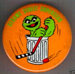Sesame street superstar button oscar