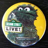 Sesame street live oscar button 1985