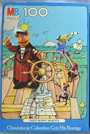 Milton bradley 1983 great muppet moments history puzzle fozzie