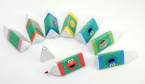 Toy island triangular markers