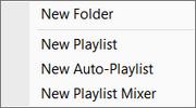 Playlists New