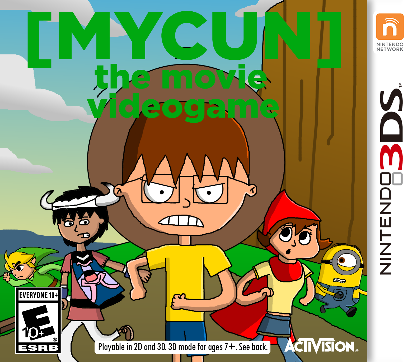 The Movie Videogame Nintendo 3DS Cover Art