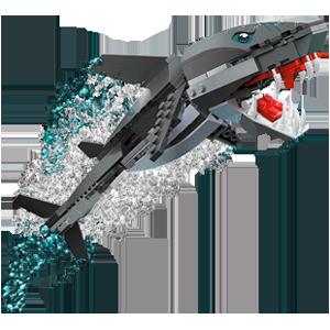 how to make a lego sharh