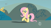 174px-Fluttershy and her shadow