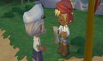 Barney Giving Scroll