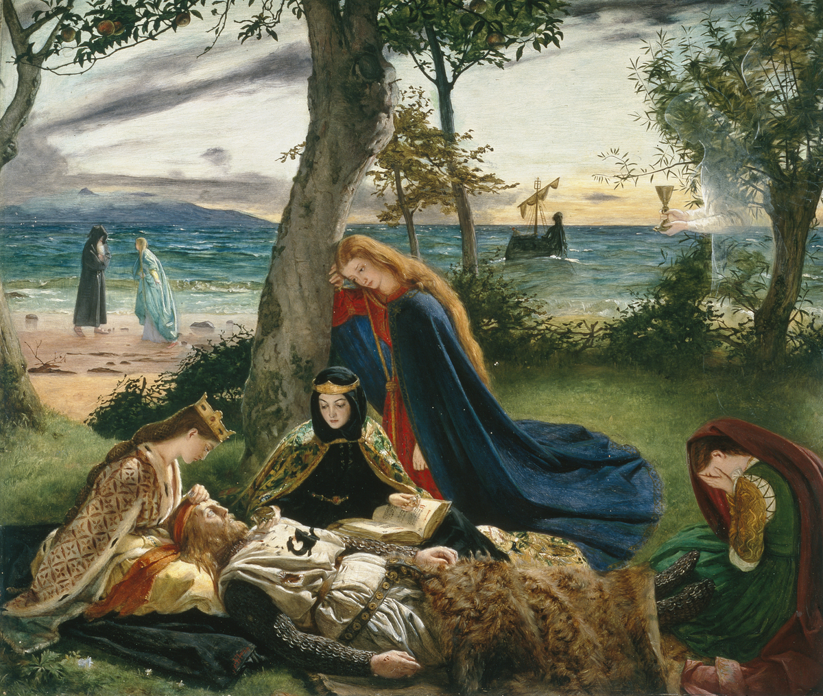File:The Death of King Arthur by James Archer (1860).jpg